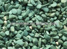 Tumbled ocan blue pebbles