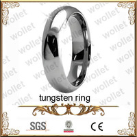 tungsten carbide men's wedding band ring plain polished ring size 4-16