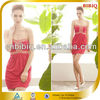 high end sexy bodycon strapless designer red cocktail dress