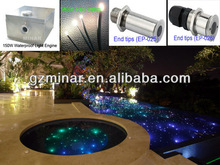 fiber optic swimming pool lighting, starry effect in the swimming pool (R-150/WP)