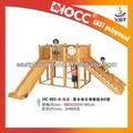 Popular crianças do jardim de infância de Playground de madeira / parque Slide / equipamento ao ar livre