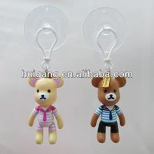 PVC toy bear sucker car interior decorativer rivet accessories