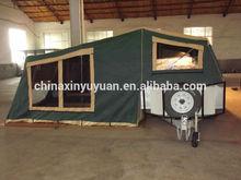 RV camper trailer with slide out kitchen