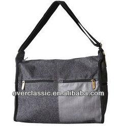 New stylish canvas grey shoulder bag for ipad mini