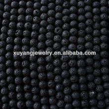 8mm Matte Black Lava Stone Beads (AB1375)