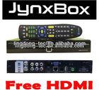 North America JynxBox Ultra HD digital Satellite Receiver support1080p full HD + ATSC + Wifi + Twin tuner + Ethernet + USB PVR