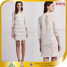 Latest Ladies Wholesale Lace Half Sleeve Elegant Career Frock Dress Designs