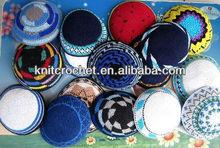 Hand Knitted Crochet Jewish Kippahs Kippots, kipas, Yarmulkas,Yarmulkes