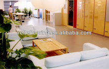 vinyl floor roll for shopping center,offices,hotel etc with easy cleaning, anti-bacteria and waterproof