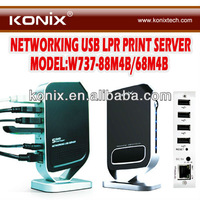 USB Networking Network Server Wireless Print 4 Ports Device HUB Home Office