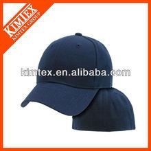 navy blue fitted bill plain solid blank baseball ball cap
