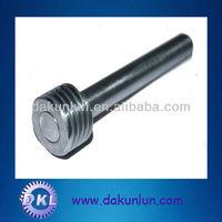 Small metal worm gear shaft