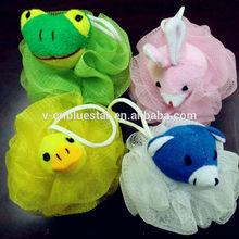grazioso animale di plastica a forma di spugna da bagno per bambini