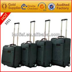 high quality storage travle bag luggage rubber wheel trolley case