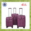 purple matched color aluminium trolley travel bag suitcase