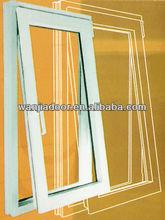 foshan wanjia factory pvc bottom hung window