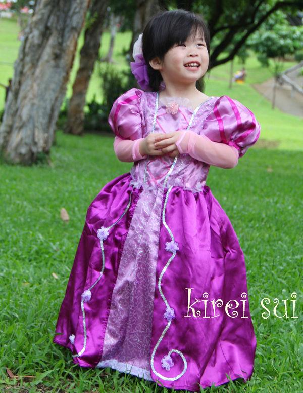 Chicas Rapunzel enredados princesa del vestido del traje 2-8Y ...