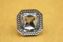 crystal square knob diamond pull knob