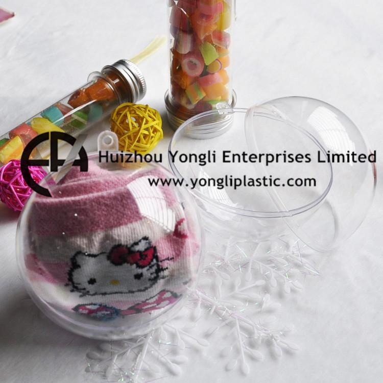 Transparent Plastic 2 Part Bauble Ball