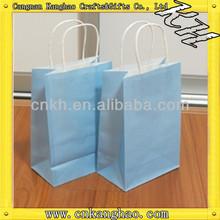 2013 Hot Sale Customized Sky blue paper bag
