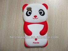 Creative Panda design silicon rubber case for Iphone4/5s