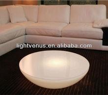 LED half moon table small