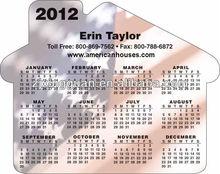 High quality soft pvc/paper magnetic calendar for fridge