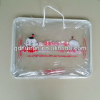 clear pvc for packing plastic quilt bags