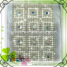 moda cucire 24 righe di nozze di cristallo strass maglia