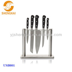 6pcs kitchen knife blocks in pp handle