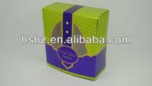 New design green polka dot and dark blue plaid empty gift box