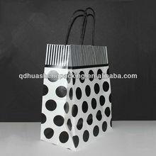 Black and White Polka Dot Kraft Paper Gift Bag