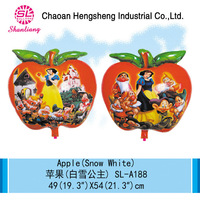 Inflatable foil apple shaped gifts balloon