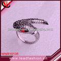 trend setter cristal de rubi anel de cobra