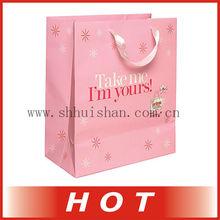 warn pink fashional printed gift paperbag