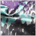 la india floral de impresión de seda como el satén vestido de tela de tela