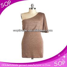 Guangzhou manufacture one shoulder women maxi dress 2013 women clothing