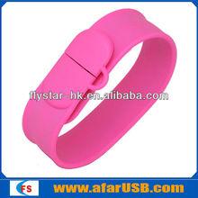Promotion wristband usb stick watch bracelet usb Free Logo