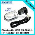 Synco 13.56 MHz HF leitor, Bluetooth / USB pequeno leitor HF SR-RH-850