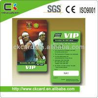 gym club plastic membership card hot sell