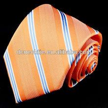Custom stripe silk tie