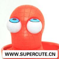 2015 Hot New Children's Toy Plastic PVC big pop eyes hero animal spider custom toy