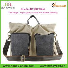 New Large Capacity Canvas Men Women Fashion Handbag Manufacturer