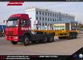 40ft conteneurs semi remorque 39 tonnes de capacité, 40ft plat remorque