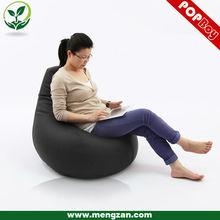 Nero ecopelle gounrd forma beanbag divano, fagiolo sedia borsa, sede