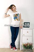 simple fashion design girl's t shirt,Eco-friendly t shirt,soft hand t shirt