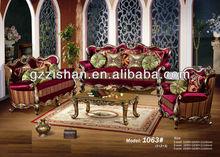 Classic solid wood craved hotel sofa