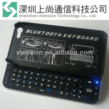 BACKLIGHT BLUETOOTH WIRELESS QWERTY SLIDER KEYBOARD CASE FOR iPHONE 5 BLACK