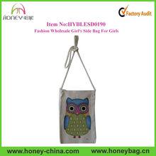 Eco Friendly Owl Sling Bag Canvas Owl Girls Side Bag