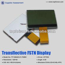 TF1286423-01-FSTN Transflective TN/STN/FSTN128*64 Dots graphic lcd display 6:00 viewing angle